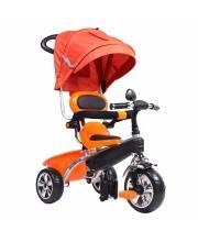 Велосипед Детский 3-х колесный с Тентом Оранжевый Pit Stop