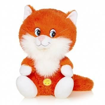 Игрушки, Мягкая Игрушка Котенок Лапушка Рыжий Озвученный 20 см Maxi Play 171618, фото