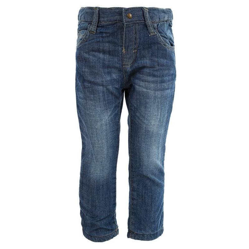 ДжинсыСиние джинсы марки MAYORAL для мальчиков. Джинсы из стопроцентного хлопкового денима с легким эффектом потертости, сделаны вручную. Джинсы прямого кроя с пятью карманами застегиваются на кнопку. Подкладка изтрикотажа позволяет носить джинсы в холодную погоду. Пояс регулируется специальными пуговицами на внутренней стороне.<br><br>Размер: 12 месяцев<br>Цвет: Синий<br>Рост: 80<br>Пол: Для мальчика<br>Артикул: 601892<br>Страна производитель: Пакистан<br>Сезон: Осень/Зима<br>Состав: 100% Хлопок<br>Состав подкладки: 97% Хлопок, 3% Эластан<br>Бренд: Испания<br>Вид застежки: Кнопки