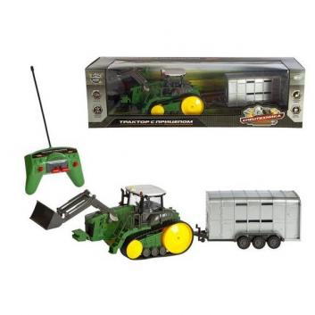 Игрушки, Трактор гусеничный на радиоуправлении Пламенный мотор 535725, фото