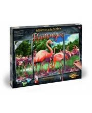 Раскраска по номерам Триптих Фламинго Schipper