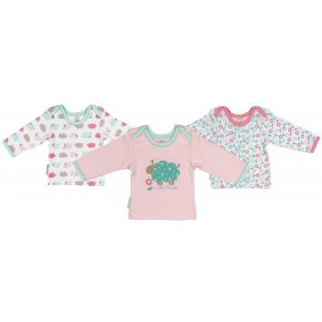 Девочки, Комплект футболок с длинным рукавом 3 шт Lucky Child (бирюзовый)203187, фото
