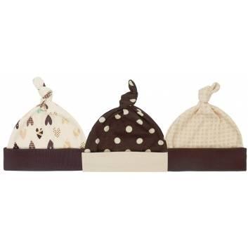 Малыши, Комплект шапок 3 шт Lucky Child (коричневый)203295, фото