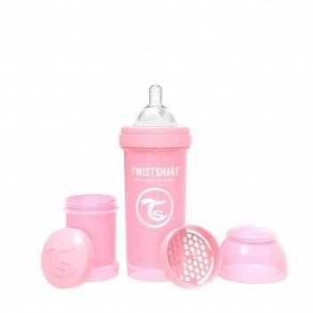 Кормление и питание, Антиколиковая бутылочка для кормления 260 мл Twistshake (розовый)172272, фото