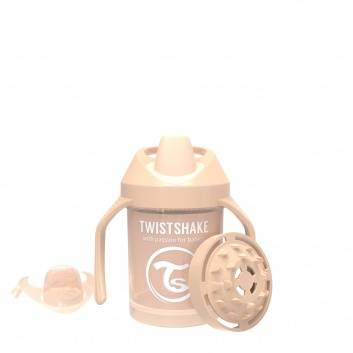 Кормление, Поильник Mini Cup 230 мл Twistshake (бежевый)172376, фото