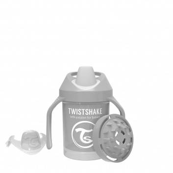 Кормление, Поильник Mini Cup 230 мл Twistshake (серый)172377, фото