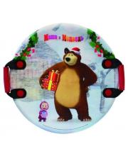 Ледянка Маша и Медведь 54 см плотные ручки 1Toy