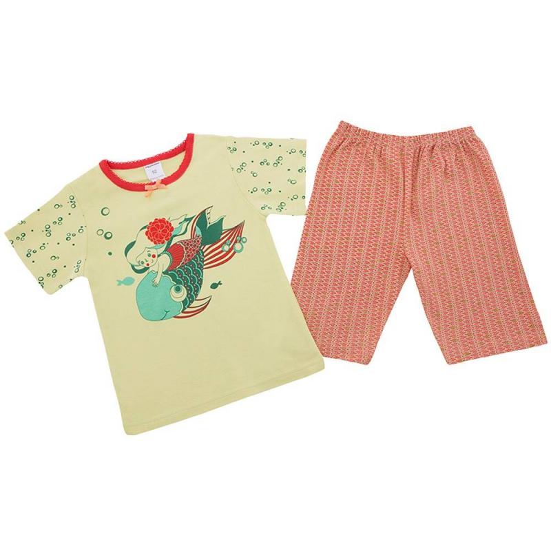 ПижамаПижама Русалкакрасно-желтого цвета марки Modamini длядевочек.Пижама состоит из футболки с короткимрукавом и шортиков. Комплект сшит из качественного хлопкового трикотажа. Шорты имеют удобный пояс на резинке. Футболкаукрашенамилым принтом срусалкой и рыбкой.<br><br>Размер: 2 года<br>Цвет: Красный<br>Рост: 92<br>Пол: Для девочки<br>Артикул: 623183<br>Бренд: Россия<br>Страна производитель: Китай<br>Сезон: Всесезонный<br>Состав: 100% Хлопок