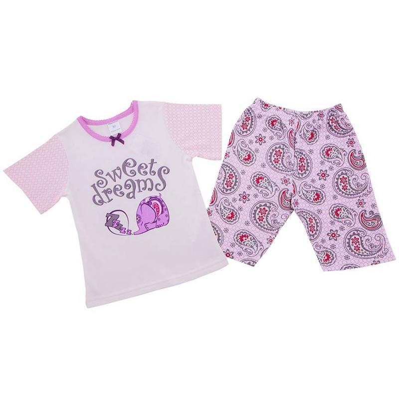 ПижамаПижама Слониксиреневогоцвета марки Modamini длядевочек.Пижама состоит из футболки с короткимрукавом и шортиков. Комплект сшит из качественного хлопкового трикотажа. Шорты имеют удобный пояс на резинке. Футболкаукрашенамилым принтом со спящим слоником.<br><br>Размер: 4 года<br>Цвет: Сиреневый<br>Рост: 104<br>Пол: Для девочки<br>Артикул: 623191<br>Страна производитель: Китай<br>Сезон: Всесезонный<br>Состав: 100% Хлопок<br>Бренд: Россия