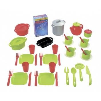 Игрушки, Набор посудки 100% Chef 45 предметов Ecoiffier 527949, фото