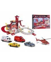 Парковка спасательная станция Creatix с вертолетом и машинками Majorette