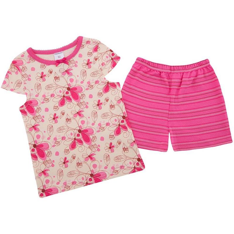 ПижамаПижама Цветырозовогоцвета марки Modamini длядевочек.Пижама состоит из футболки с короткимрукавом и шортиков. Комплект сшит из качественного хлопкового трикотажа, украшен милым принтом с цветами. Шорты в полоску имеют удобный пояс на резинке, футболка декорирована бантиком.<br><br>Размер: 2 года<br>Цвет: Розовый<br>Рост: 92<br>Пол: Для девочки<br>Артикул: 623214<br>Бренд: Россия<br>Страна производитель: Китай<br>Сезон: Всесезонный<br>Состав: 100% Хлопок