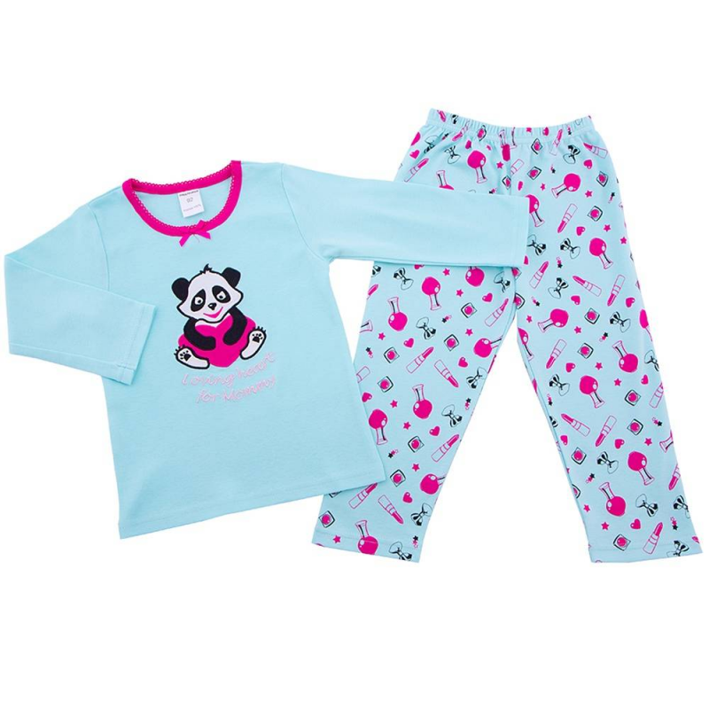 ПижамаПижама Пандаголубогоцвета марки Modamini длядевочек.Пижама состоит из футболки с длиннымрукавом и брючек.Комплект сшит из качественного хлопкового трикотажа, украшен милым девичьим принтом розового цвета. Брючкиимеют удобный пояс на резинке, футболка украшена принтом с пандой.<br><br>Размер: 7 лет<br>Цвет: Голубой<br>Рост: 122<br>Пол: Для девочки<br>Артикул: 629186<br>Страна производитель: Китай<br>Сезон: Всесезонный<br>Состав: 100% Хлопок<br>Бренд: Россия