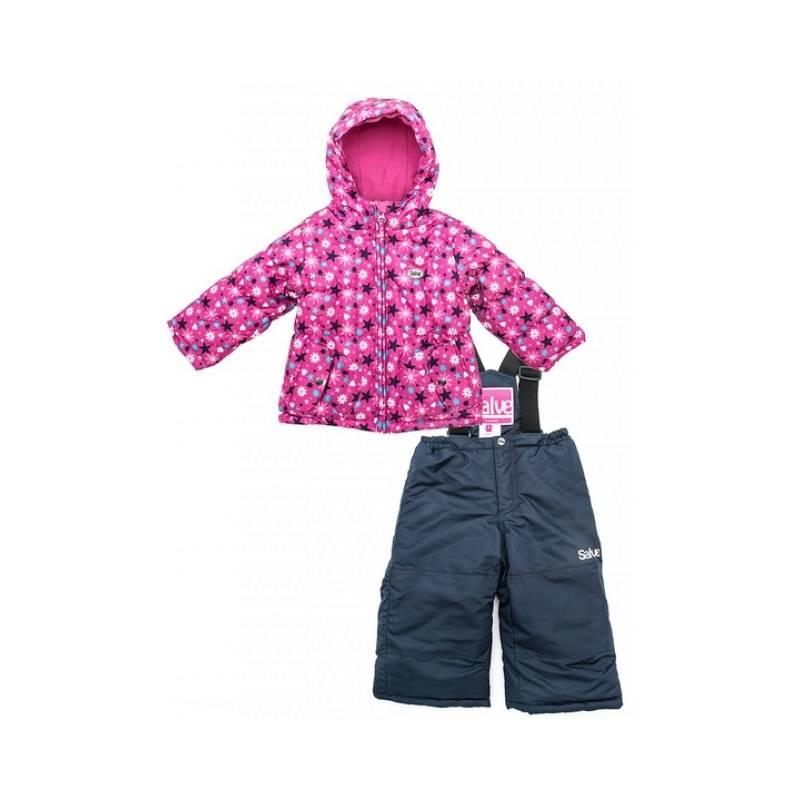 КомплектКомплектрозовогоцвета российско-канадской марки Salve для девочек. Мембранный комплект для дошкольниковSalve – это прекрасное решение для суровой зимы.Для верха изделий применяется материал Taslan, который обеспечивает защиту от влаги и ветра. Для наполнителя используется современный тонковолокнистый утеплитель, а для подкладки – флис.Куртка, выполненная в ярком цвете с мелким цветочным принтом, удачно сочетается с однотонным полукомбинезоном. Она имеет ветрозащитную застежку, карманы, трикотажные манжеты, удобный капюшон. В модели полукомбинезона предусмотрены регулируемые эластичные лямки, дополнительная защита от снега на штанинах, внутренняя застежка по нижнему краю брюк и пояс на резинке. Для практичности изделие имеет дополнительное покрытие от изнашивания на наиболее уязвимых участках.<br><br>Размер: 4 года<br>Цвет: Розовый<br>Рост: 104<br>Пол: Для девочки<br>Артикул: 624734<br>Страна производитель: Китай<br>Сезон: Осень/Зима<br>Состав: 100% Полиамид<br>Состав подкладки: 100% Полиэстер<br>Бренд: Россия<br>Наполнитель: 100% Полиэстер<br>Температура: до -30°