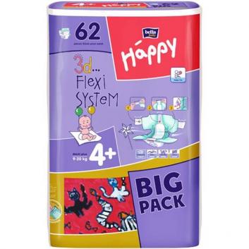 Подгузники Big Pack maxi+ 9-20 кг 62 шт.