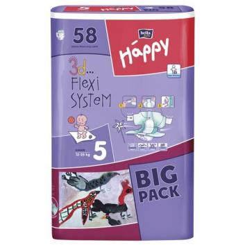 Подгузники Big Pack junior 12-25 кг 58 шт.