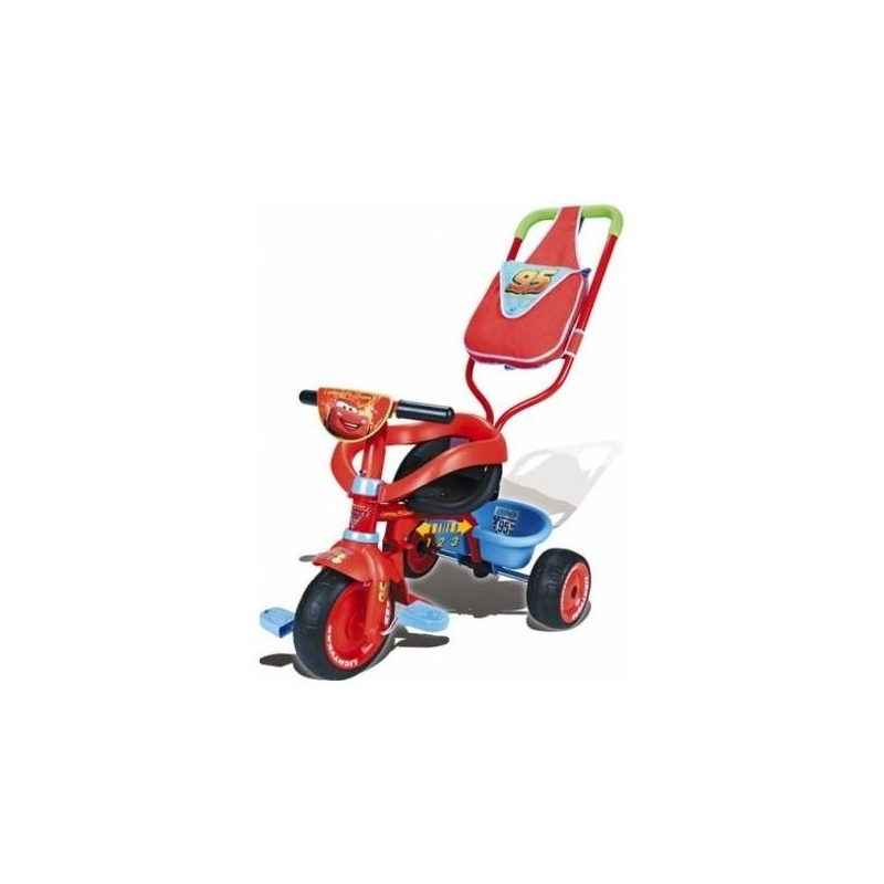 Велосипед трехколесный Be Fun Confort CarsВелосипед трехколесный Smoby Be Fun Confort Cars.<br>Трехколесный велосипед Be Fun Confort Cars создан как безопасное, надежное средство передвижения. Во время прогулки ребенок сможет самостоятельно крутить педали.Развивает ловкость, двигательную активность и координацию ребенка. Ремни безопасности надежно держат, но при этом не лишают ребенка возможности двигаться. Мягкие прорезиненные колеса обеспечивают хорошее сцепление с асфальтом. У велосипеда есть ручка для родителей. При ее использовании педали крепко зафиксированы и не приходят в движение. Сзади предусмотрена большая корзина, чтобы складывать игрушки. Велосипед изготовлен из прочного пластика высокого качества. Каркас стальной.<br>Размеры игрушки: 95х50х89 см.Вес с упаковкой: 4850 гр.Максимально разрешенная нагрузка – 25 кг.Для детей старше 1 года.<br><br>Возраст от: 12 месяцев<br>Пол: Не указан<br>Артикул: 624426<br>Бренд: Франция<br>Страна производитель: Китай<br>Размер: от 12 месяцев