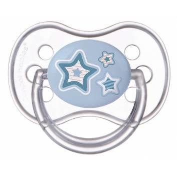 Гигиена, Пустышка круглая силиконовая 0-6 Newborn baby Canpol Babies (голубой)173438, фото