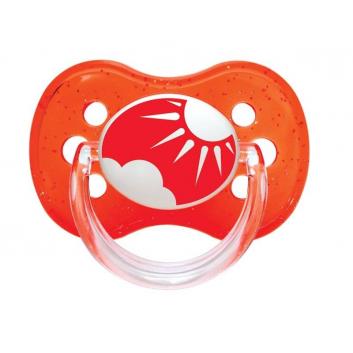 Гигиена, Пустышка круглая силиконовая 0-6 Nature Canpol Babies (красный)173564, фото