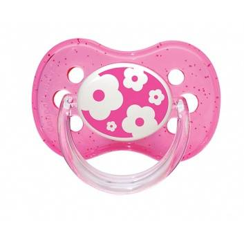 Гигиена, Пустышка круглая силиконовая 6-18 Nature Canpol Babies (розовый)173565, фото