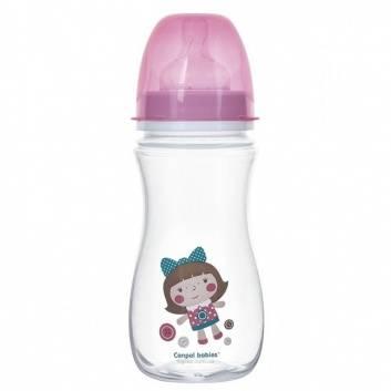 Кормление, Бутылочка PP EasyStart антиколиковая 300 мл 12+ Toys Canpol Babies (розовый)173610, фото