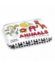 Книжка мягкая с пищалкой 6+ Colourful animals Canpol Babies
