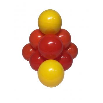 Спорт и отдых, Комплект шариков Солнечный для сухого бассейна 100 шт HOTENOK 175595, фото