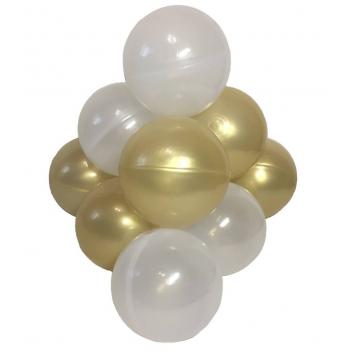 Спорт и отдых, Комплект шариков Пена с золотом для сухого бассейна 50 шт HOTENOK 175599, фото