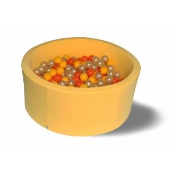 Спорт и отдых, Сухой бассейн Желтое золото 40 см с комплектом шаров 200 шт HOTENOK 175611, фото