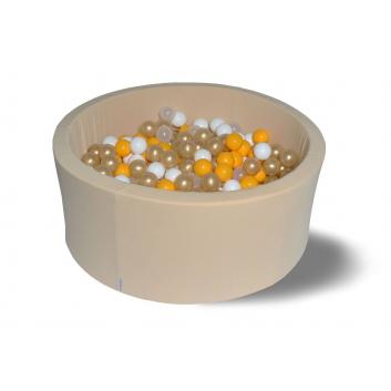 Спорт и отдых, Сухой бассейн Злато 40 см с комплектом шаров 200 шт HOTENOK 175612, фото