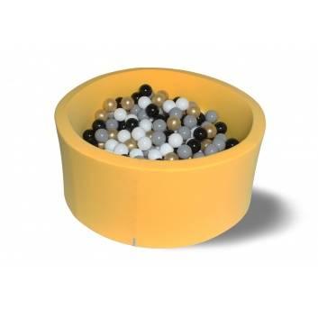 Спорт и отдых, Сухой бассейн Золотой песок 40 см с комплектом шаров 200 шт HOTENOK 175614, фото