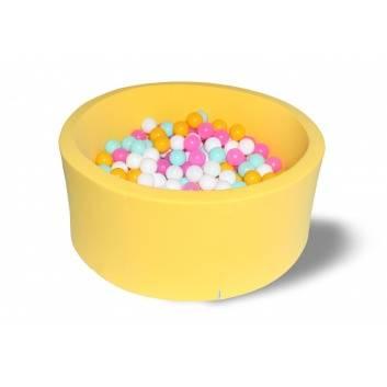 Спорт и отдых, Сухой бассейн Лимонная жвачка 40 см с комплектом шаров 200 шт HOTENOK 175615, фото