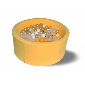 Спорт и отдых, Сухой бассейн Лимонное золото 40 см с комплектом шаров 200 шт HOTENOK 175616, фото