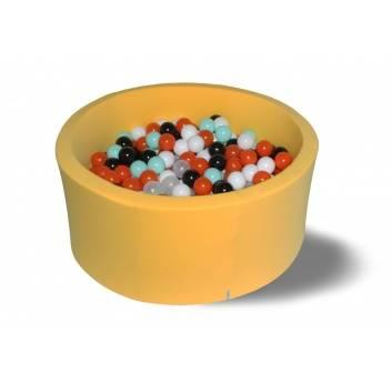 Спорт и отдых, Сухой бассейн Лимонное сияние 40 см с комплектом шаров 250 шт HOTENOK 175617, фото