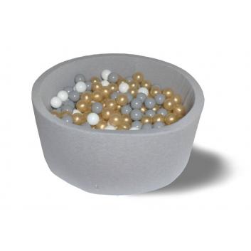 Спорт и отдых, Сухой бассейн Серое золото 40 см с комплектом шаров 200 шт HOTENOK 175625, фото