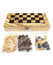 Настольная игра 3 в 1 Шахматы, шашки, нарды Наша Игрушка