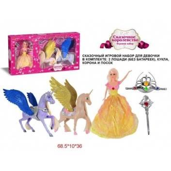 Игрушки, Два единорога Сказочное королевство с куклой Наша Игрушка 206832, фото
