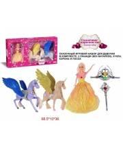 Два единорога Сказочное королевство с куклой Наша Игрушка