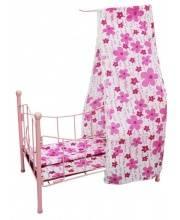 Кроватка для куклы с балдахином Наша Игрушка