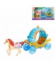 Карета круглая с лошадкой Наша Игрушка