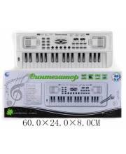 Синтезатор 37 клавиши с микрофоном Наша Игрушка