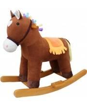 Лошадка-качалка Мультик коричн 65 см звук кор Наша Игрушка