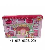 Вилла розовая с набором мебели Наша Игрушка