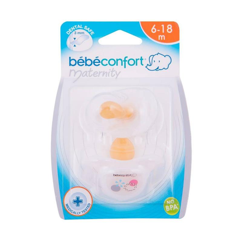 Bebe Confort Пустышки латексные Safe Dummies 6-18 мес. 2 шт. соски bebe confort латексная стандарт 6 24 мес 3 шт