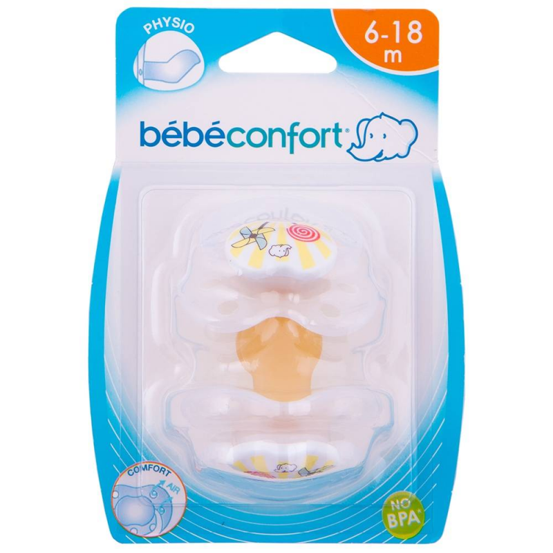 Bebe Confort Пустышки латексные Classic Dummies 6-18 мес. 2 шт. соски bebe confort латексная стандарт 6 24 мес 3 шт