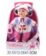 Набор кукла 40см с рюкзаком Наша Игрушка