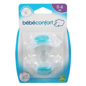 Гигиена, Пустышки силиконовые Physio Dummies 0-6 мес. 2 шт. Bebe Confort 624187, фото