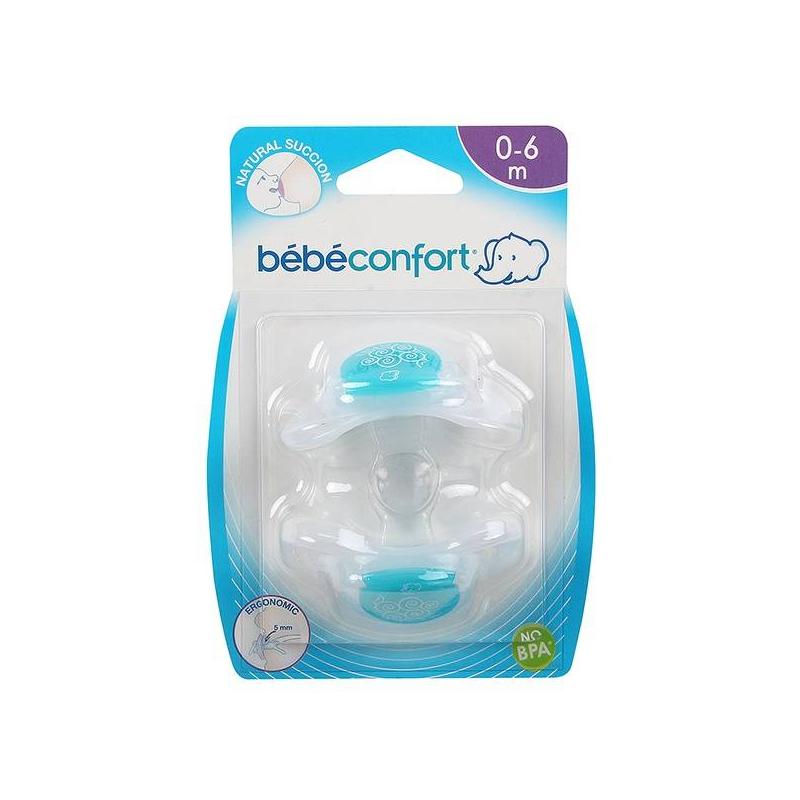 Bebe Confort Пустышки силиконовые Physio Dummies 0-6 мес. 2 шт. соски bebe confort латексная стандарт 6 24 мес 3 шт