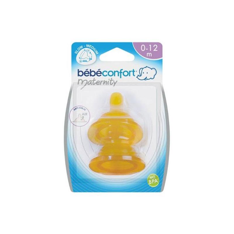 Bebe Confort Соски из латекса широкое горлышко 0-12 мес. 2 шт.