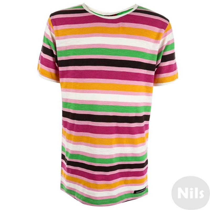 ФутболкаФутболка розовогоцвета маркиVillervalla для девочек.<br>Модная футболка - отличный вариант универсальной одежды для весенне-летнего сезона. Футболкасшита из мягкого хлопкового трикотажа, декорирована оригинальным рисунком в полоску и белой окантовкой.<br>Одежда шведской маркиVillervallaотличается яркими цветамии оригинальным внешним видом. Она производится только из тщательно проверенных и безопасных для ребенка материалов.Качество швов и продуманный крой обеспечивают отличный внешний вид и удобство носки.<br><br>Размер: 2 года<br>Цвет: Розовый<br>Рост: 92<br>Пол: Для девочки<br>Артикул: 624618<br>Сезон: Весна/Лето<br>Состав: 100% Хлопок<br>Бренд: Швеция